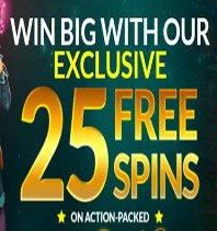 25 Free Spins Bonus Vouchers